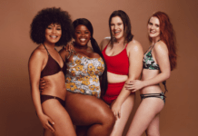 women in plus size swimwear