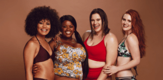 women in plus size swimwear