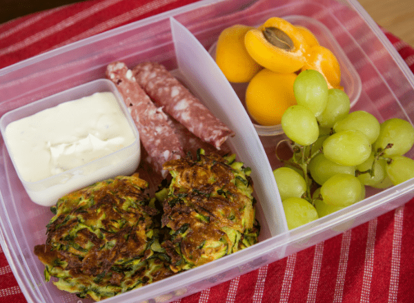lunchbox idea zucchini fritters recipe