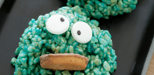 rice krispie treat cookie monster