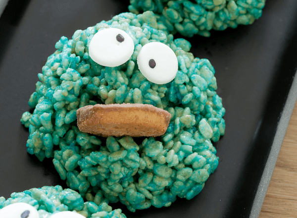 rice krispie treat cookie monster