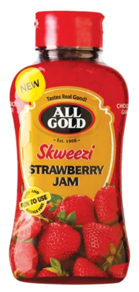 All Gold Sqweezi jam bottle