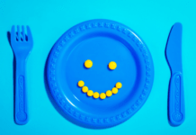 healthy happy child's plate of food