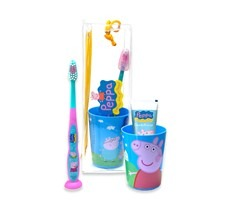how to get your toddler to brush their teeth: peppa pig toothpaste and brush
