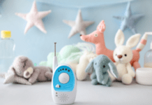 how to choose the right baby monitor for you and your child: baby monitor in a nursery