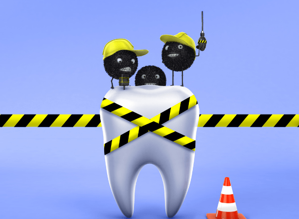 how to take care of your child's teeth: tooth with cavities