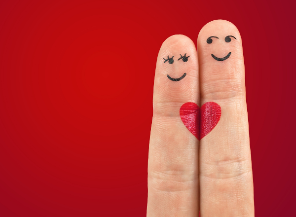 why having sex is good for you and your health: two fingers with faces drawn on them