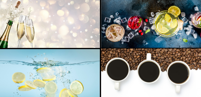 Lily Rose Collection What's your drink of choice: water cocktails champagne coffee