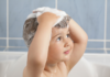 how to wash a toddler's hair without tantrum or crying: little boy washing his hair