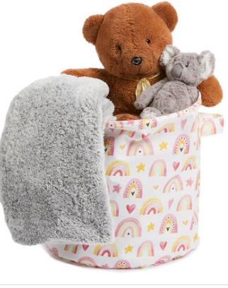 George & Mason baby storage bag pink rainbow