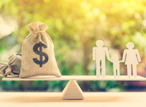 money and family on scale: midlife money makeover