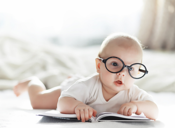 baby wearing glasses: why you should have your childs eyes checked early