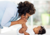 smiling mom and baby: parentese what it is and why you should use it to talk to your baby or child