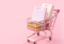 mini shopping trolley with gift bags in it: things we love september 2021